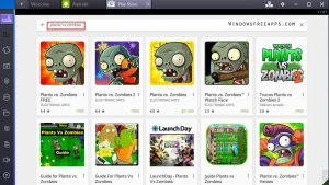 Search Plants vs Zombies