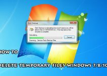 How To Delete Temporary Files Windows 7/8/10