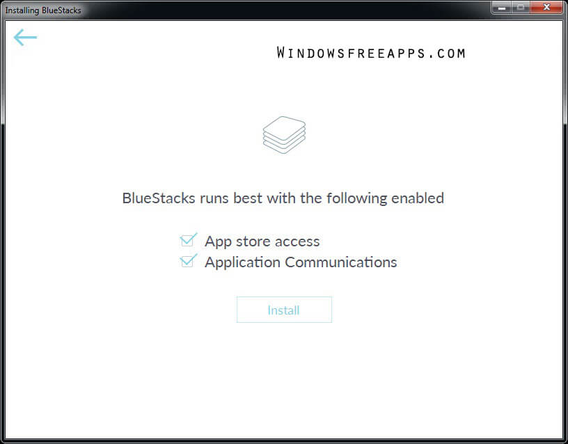 Install Bluestacks App Player for PC
