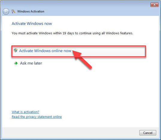 windows 7 activation online free