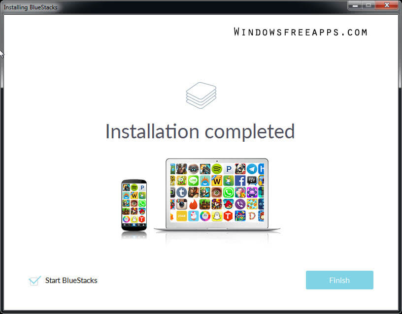 Step 5 Install Bluestacks App Player for PC
