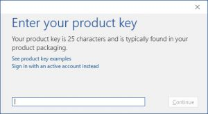 How to activate Microsoft Office 2016
