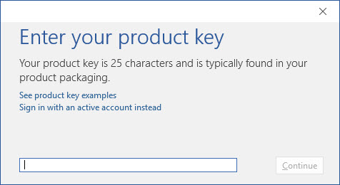 Enter Microsoft Office 2016 Product Key Free List