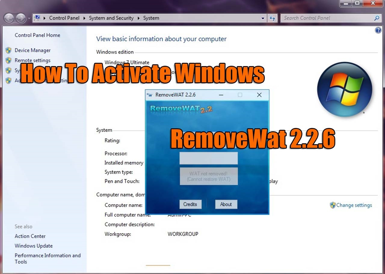 RemoveWat 2 2 6 Activator For All Windows 7/8/10 Versions