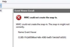 MMC Could Not Create The Snap-in. The Snap-in Might Not Have Been Installed Correctly in Windows 10/8/7