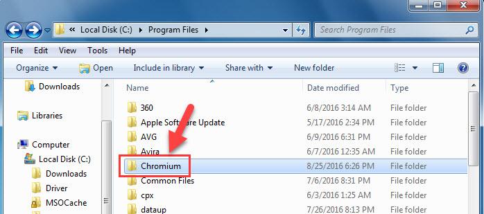Uninstall or Remove Chromium From Windows - 3