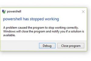 Windows PowerShell Has Stopped Working In Windows 10