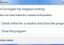COM Surrogate has Stopped Working in Windows 7