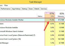 TiWorker.exe High CPU Usage Problems In Windows 10