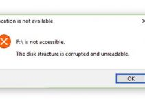 The disk structure is corrupted and unreadable In Windows 10