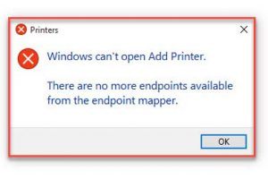 There Are No More Endpoints Available From The Endpoint Mapper Windows 10
