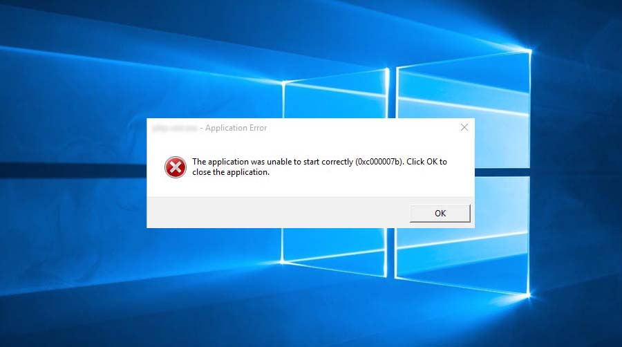 The Application Was Unable To Start Correctly (0xc000007b) in Windows 10