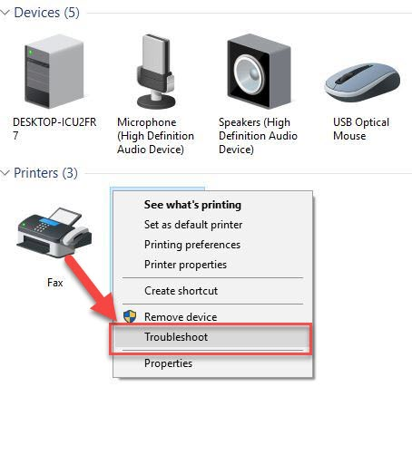 Run the Print Troubleshooter
